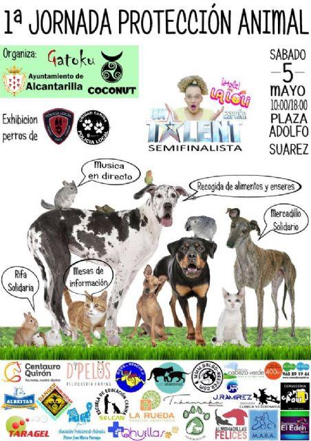 Alcantarilla tendrá mañana la primera Jornada de Protección Animal, en la plaza Adolfo Suárez, de 10 de la mañana a seis de la tarde - 1, Foto 1