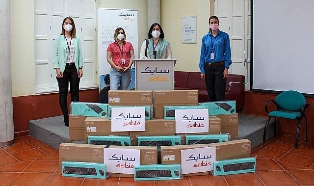 La Fundación SABIC España dona material informático a centros educativos de La Aljorra - 1, Foto 1