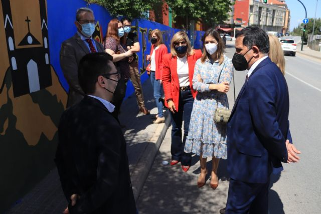 Algezares estrena un nuevo mural en homenaje a Párraga - 1, Foto 1