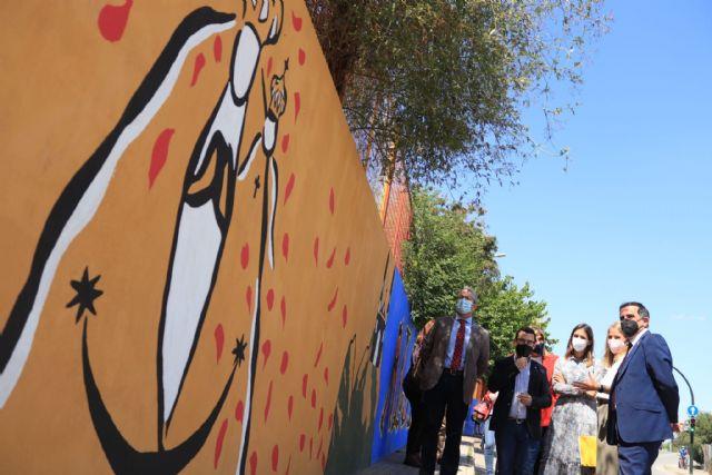 Algezares estrena un nuevo mural en homenaje a Párraga - 2, Foto 2