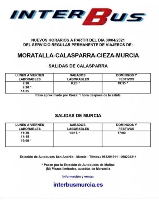 El Grupo Municipal Socialista consigue que se amplíen los horarios de autobuses entre Calasparra y Murcia - 2, Foto 2