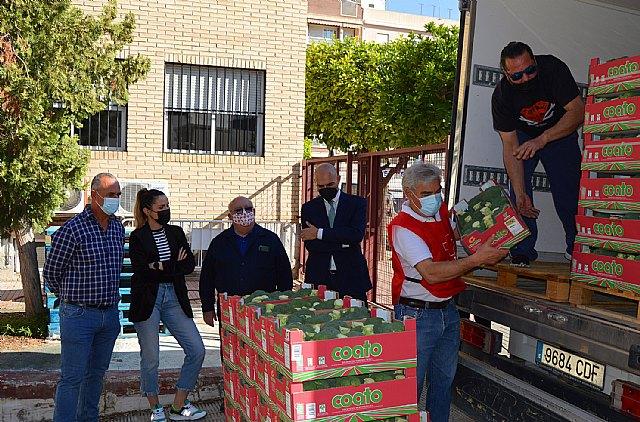 [Coato dona 1.300 kilos de brócoli ecológico a Cruz Roja Española