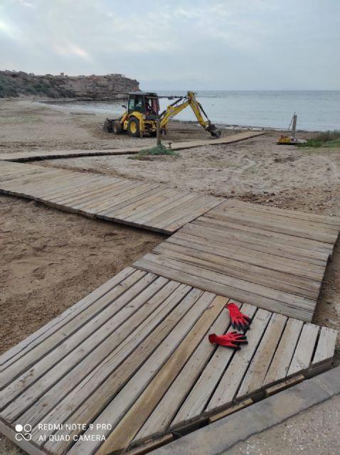 Las playas de Águilas se acondicionarán con nuevas pasarelas y Lavapiés de pedal - 1, Foto 1