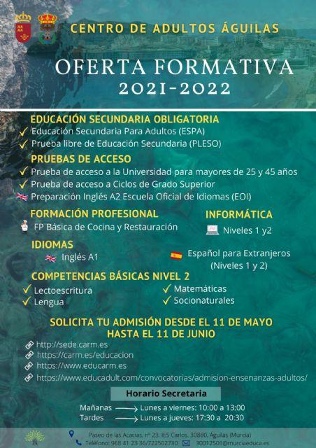 El próximo martes se abre el proceso de admisión de alumnos del Centro de Educación de Personas Adultas - 1, Foto 1