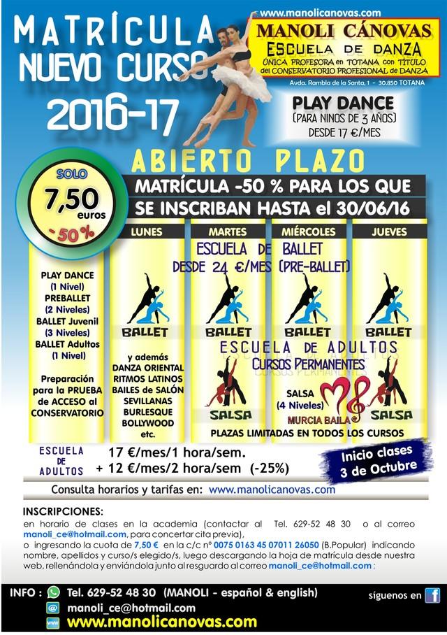 La Escuela de Danza Manoli Cánovas abre el plazo de matrícula para el curso 2016-17, Foto 1