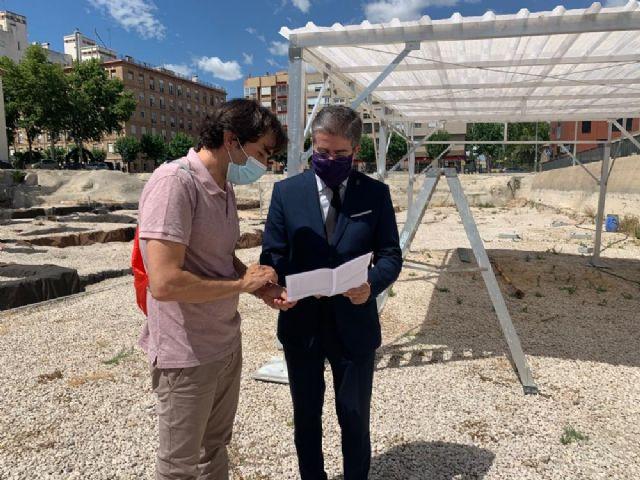 Cuatro pérgolas de 32 metros cuadrados protegerán las excavaciones del yacimiento de San Esteban - 1, Foto 1