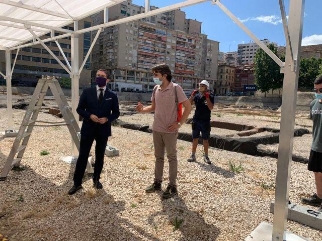 Cuatro pérgolas de 32 metros cuadrados protegerán las excavaciones del yacimiento de San Esteban - 3, Foto 3