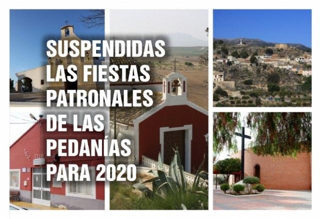 Suspendidas las fiestas de las pedanías por seguridad ante la Covid-19 - 1, Foto 1