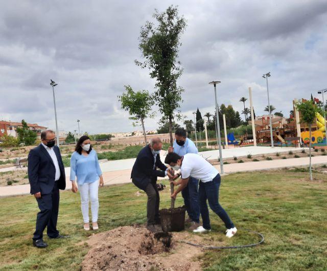 Alcantarilla se suma a la campaña Un árbol por Europa con la plantación de una encina en el Parque del Acueducto - 1, Foto 1