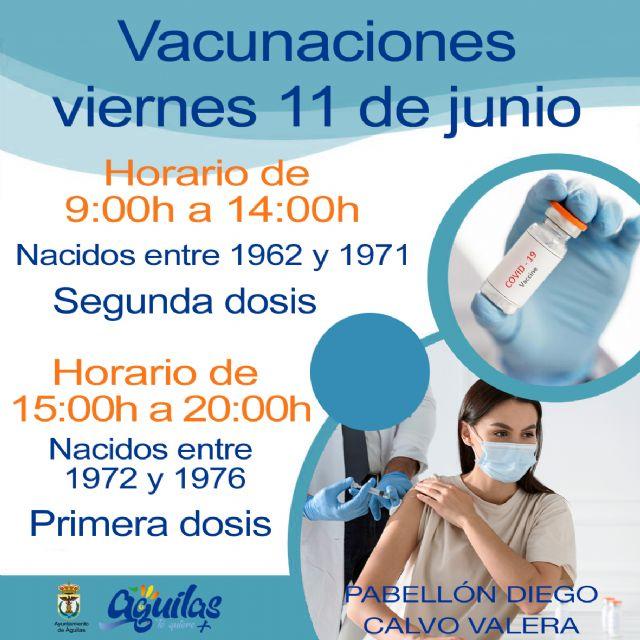 El próximo viernes, 11 de Junio, recibirán la primera dosis de la vacuna contra el COVID los nacidos entre 1972 y 1976 en el Pabellón Diego Calvo Valera - 1, Foto 1
