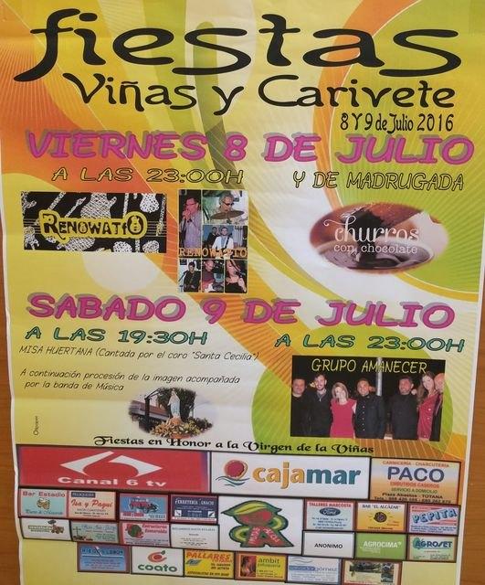 Las fiestas de la diputación de Las Viñas-Carivete se celebran este próximo fin de semana, 8 y 9 de julio, Foto 2