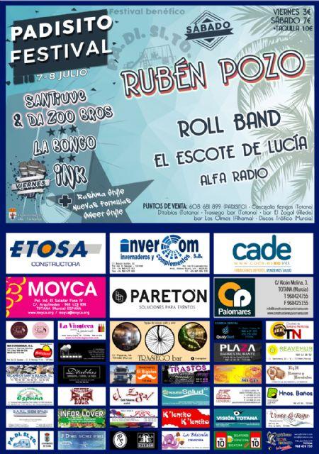 Rubén Pozo, ex miembro de Pereza, estará en Totana en el sexto PADISITO Festival, Foto 1