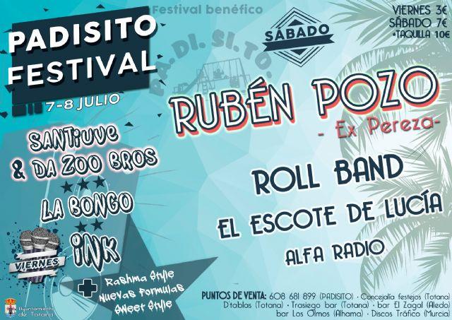 Rubén Pozo, ex miembro de Pereza, estará en Totana en el sexto PADISITO Festival, Foto 2