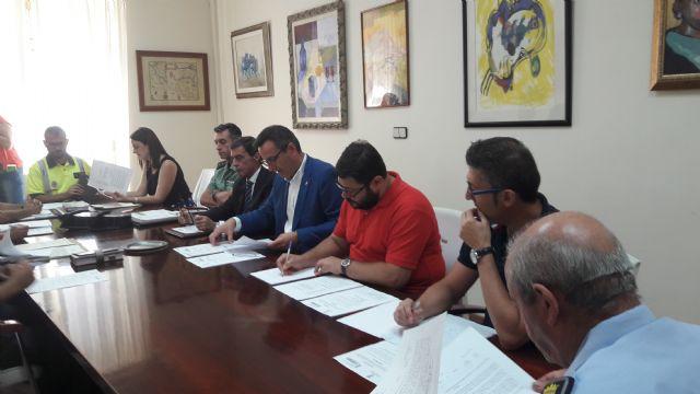 El delegado del Gobierno preside la junta local de Seguridad de Alhama, donde las infracciones penales descienden un 26%, Foto 1