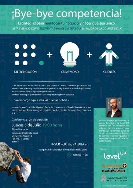 "The Local Development Center will host the free talk ""Bye bye competition"", given by the Business School ""Level Up"" - 1"
