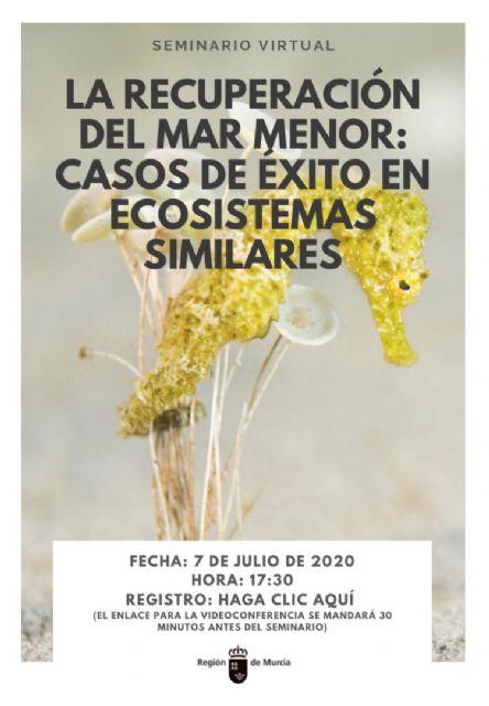 La Comunidad organiza un seminario ´online´ sobre la recuperación del Mar Menor, con la presencia de expertos internacionales - 1, Foto 1