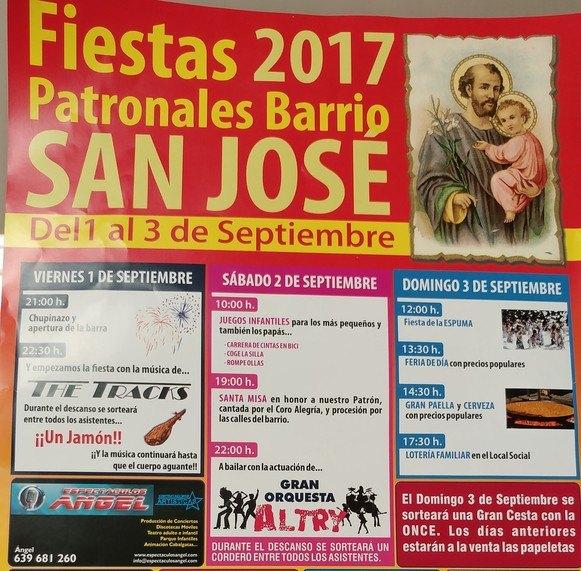 Las fiestas patronales del barrio San José se celebrarán del 1 al 3 de septiembre, Foto 2