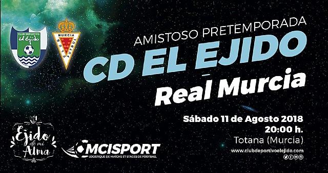 Totana acoger� el amisto de pretemporada entre el Club Deportivo El Ejido y el Real Murcia, Foto 1