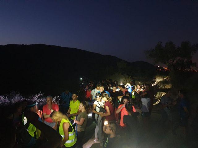 300 participantes en la II salida senderista nocturna organizada por el Ayuntamiento de Puerto Lumbreras - 4, Foto 4