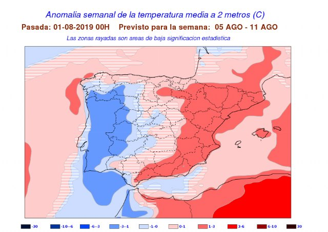 Totana Civil Protection reports that next week will be very hot in the Region of Murcia