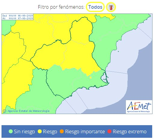 Totana Civil Protection reports that next week will be very hot in the Region of Murcia, Foto 3