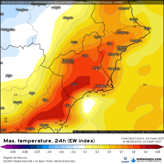 Totana Civil Protection reports that next week will be very hot in the Region of Murcia, Foto 4