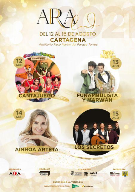 La primera edición de ARALAND se celebrará del 12 al 15 de agosto de 2021, en el Auditorio Paco Martín del Parque Torres - 1, Foto 1