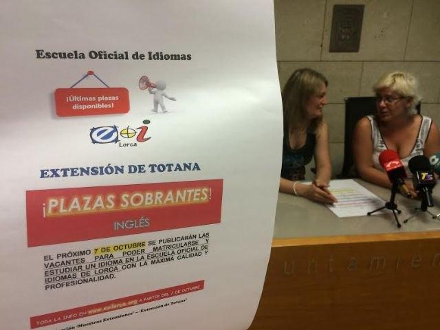 La extensión de la Escuela Oficial de Idiomas de Totana publicará el 7 de octubre las plazas vacantes para matricularse en el curso 2016/17, Foto 1