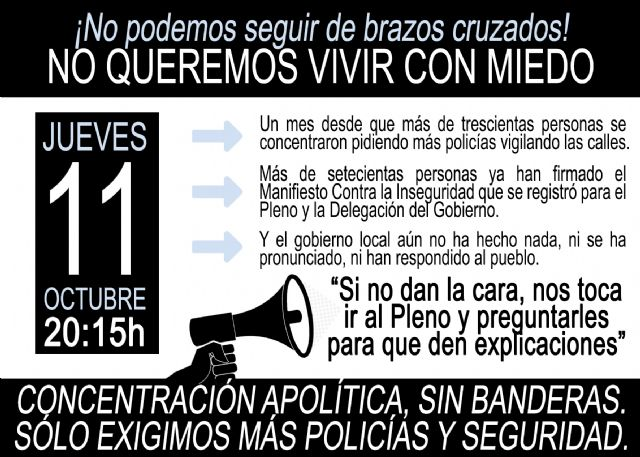 Los vecinos de Alguazas convocan una nueva manifestación para el próximo jueves coincidiendo con el pleno municipal - 5, Foto 5