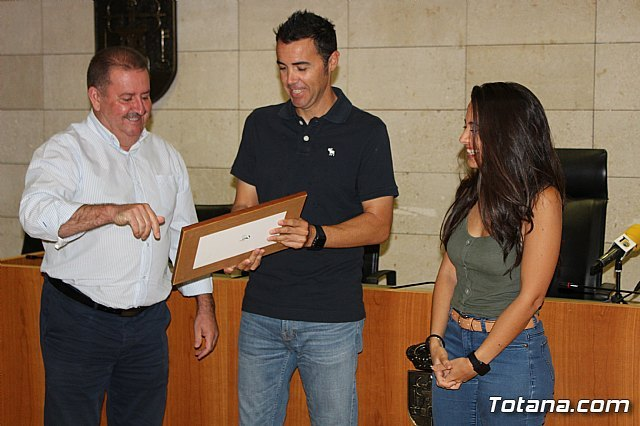 The Totana City Council performs an institutional recognition to totanero tennis player, Pedro Cánovas, recent senior European champion +35 with the Murcia Tennis Club - 4