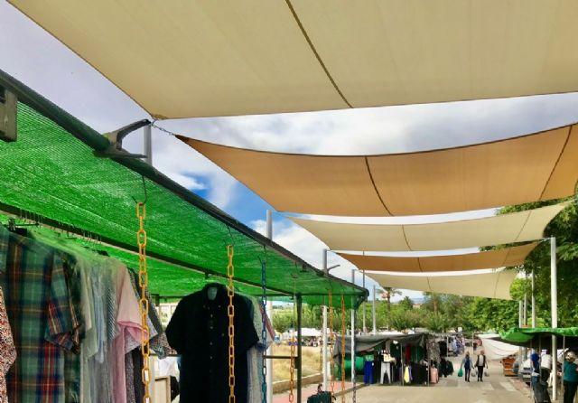 Lorquí finaliza la primera fase del proyecto de sombraje del mercado no sedentario - 1, Foto 1