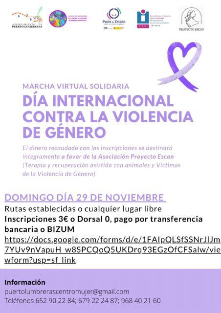 El Ayuntamiento organiza una marcha virtual solidaria el 29 de noviembre por el Día Internacional contra la Violencia de Género - 1, Foto 1