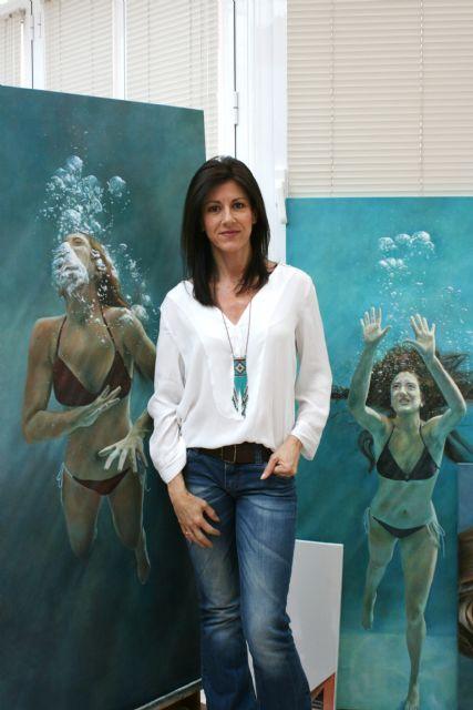 Perla Fuertes muestra su obra´ Caja de agua´ en la galería Bisel de Cartagena, Foto 1