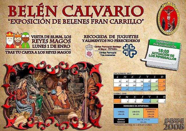 La Hdad. de Jesús en el Calvario inaugura la Exposición de Belenes de Fran Carrillo el domingo 17 de Diciembre, Foto 1