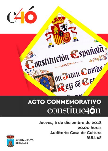 Bullas celebra los 40 años de la Constitución con un acto conmemorativo - 1, Foto 1