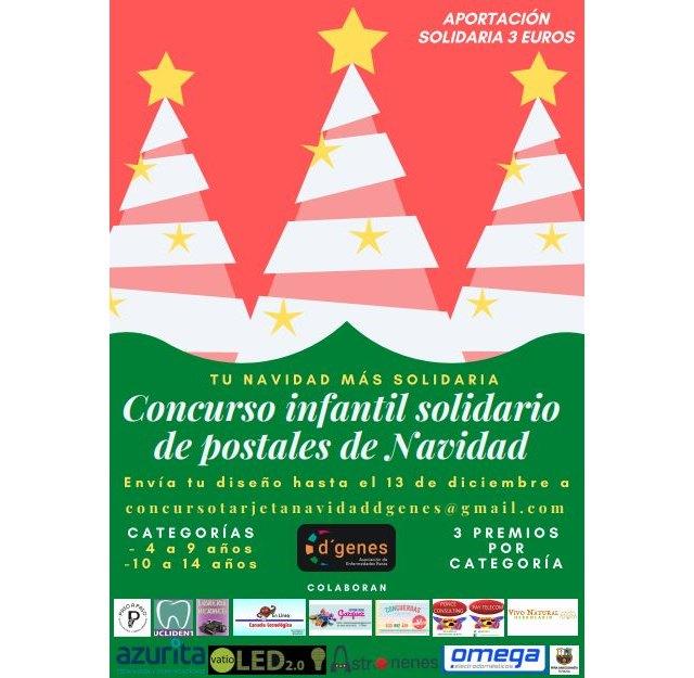 D´Genes organiza un Concurso infantil solidario de postales de Navidad, dirigido a niños de 4 a 14 años, Foto 1