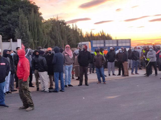 CCOO INDUSTRIA valora exitosamente la huelga agroalimentaria en la Regi�n de Murcia, Foto 1