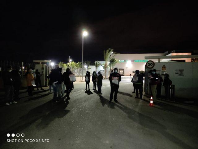CCOO INDUSTRIA valora exitosamente la huelga agroalimentaria en la Regi�n de Murcia, Foto 2