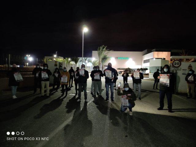 CCOO INDUSTRIA valora exitosamente la huelga agroalimentaria en la Regi�n de Murcia, Foto 4