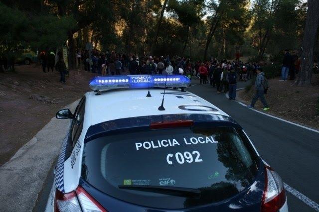 Más de 50 efectivos integran el dispositivo de seguridad de la romería de regreso de La Santa de Totana este lunes 7 de enero, Foto 2