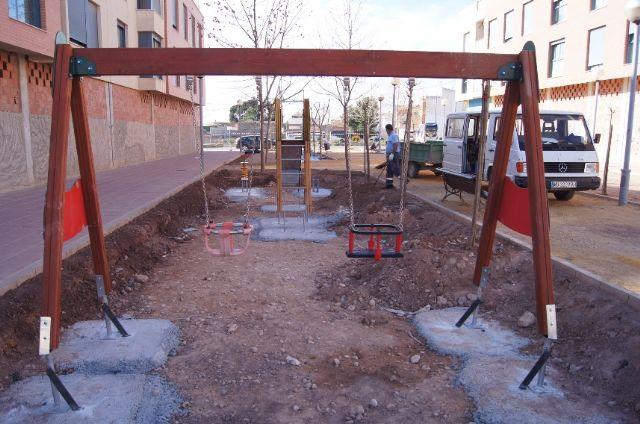 El nuevo parque recreativo en el barrio de Triptolemos estará finalizado la próxima semana, Foto 1