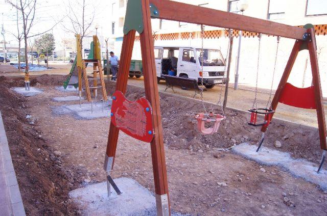 El nuevo parque recreativo en el barrio de Triptolemos estará finalizado la próxima semana, Foto 2