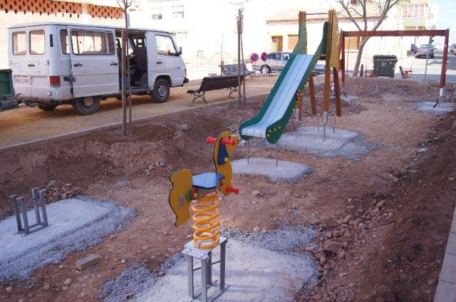El nuevo parque recreativo en el barrio de Triptolemos estará finalizado la próxima semana, Foto 4