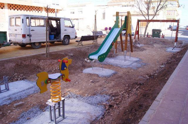 El nuevo parque recreativo en el barrio de Triptolemos estará finalizado la próxima semana, Foto 5
