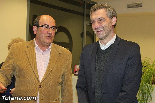 El Secretario General regional y varios diputados y dirigentes de Podemos de Murcia se reunen con el Presidente y directivos de CEBAG, Foto 1