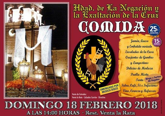 La Hermandad de la Negación y Exaltación de la Cruz organiza una comida, Foto 1