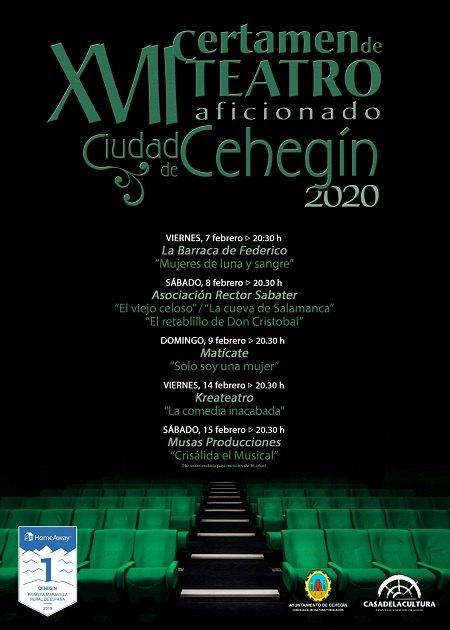El XVII Certamen de Teatro Aficionado 'Ciudad de Cehegín' comienza el próximo viernes - 1, Foto 1