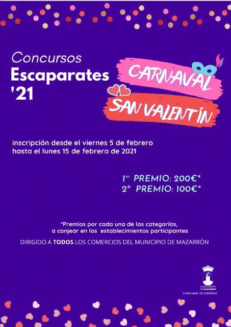 Abierto el plazo de inscripción para los concursos de escaparates de Carnaval y San Valentín - 1, Foto 1