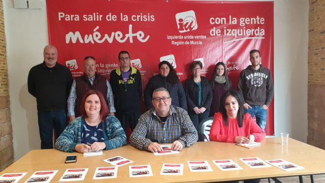 IU-Verdes se presenta  como la alternativa  de izquierdas, ecologista y feminista para recuperar el gobierno municipal de Alcantarilla - 1, Foto 1