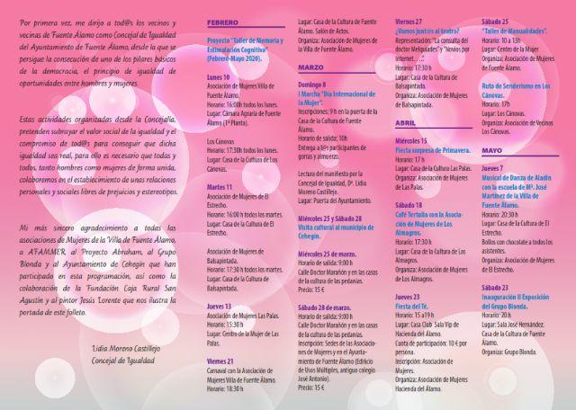La Concejalía de Igualdad de Fuente Álamo presenta una programación especial para los meses de marzo, abril y mayo - 2, Foto 2